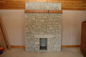 Granite Quartz Stone Fireplace